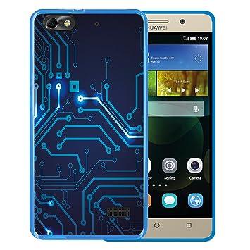 WoowCase Funda para Huawei G Play Mini - Huawei Honor 4C, [Huawei G Play Mini - Huawei Honor 4C ] Silicona Gel Flexible Circuito, Carcasa Case TPU ...