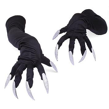 BESTOYARD Halloween Handschuhe Nagel Halloween Party Kostüm