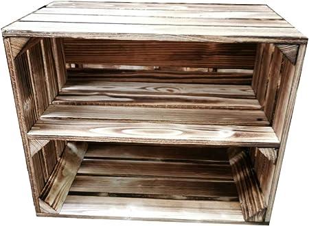 Teramico Caja de Madera 50 x 40 x 30 cm – Vintage-Look veteado ...