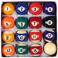 lahomie Lot de 16 Boules de Billard en r/ésine Rouge//Jaune 5,1 cm