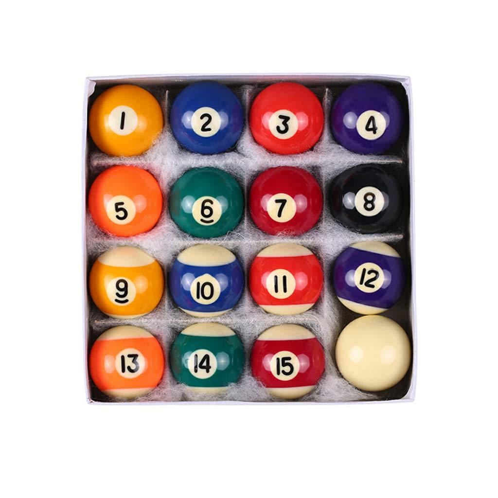 25 mm DENGHENG Set di 16 mini palle da biliardo in resina per bambini