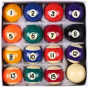 DENGHENG - Juego de 16 mini bolas de billar de resina de 25 mm ...