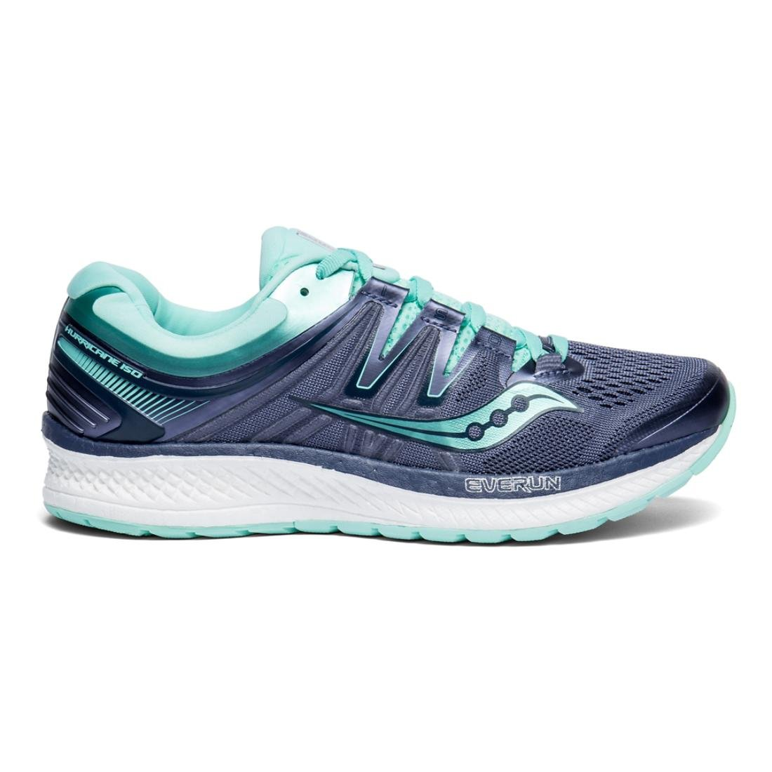 Saucony Women's Hurricane Iso 4 Running Shoe B078PQ1J47 11.5 B(M) US|Grey/Aqua