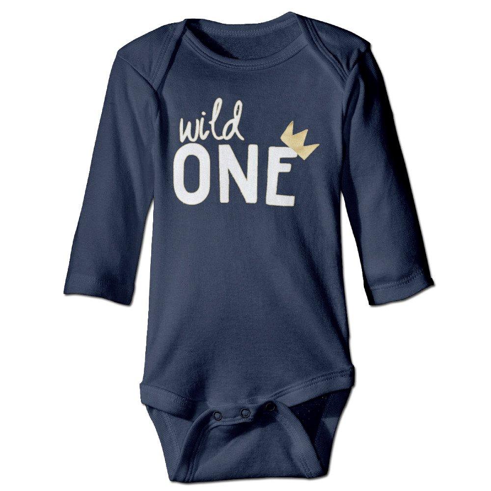 JUNDI Itâ€TMs Your Birthday Wild One Long Sleeves Baby Bodysuit Onesies