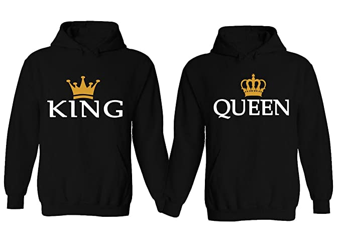 40ce916823 YSM Couple Hoodie - New King & Queen Matching His and Her Hoodies:  Amazon.ca: Clothing & Accessories