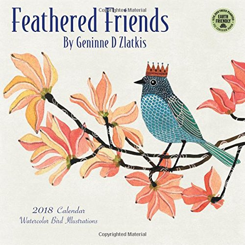 Feathered Friends 2018 Wall Calendar: Watercolor Bird Illustrations