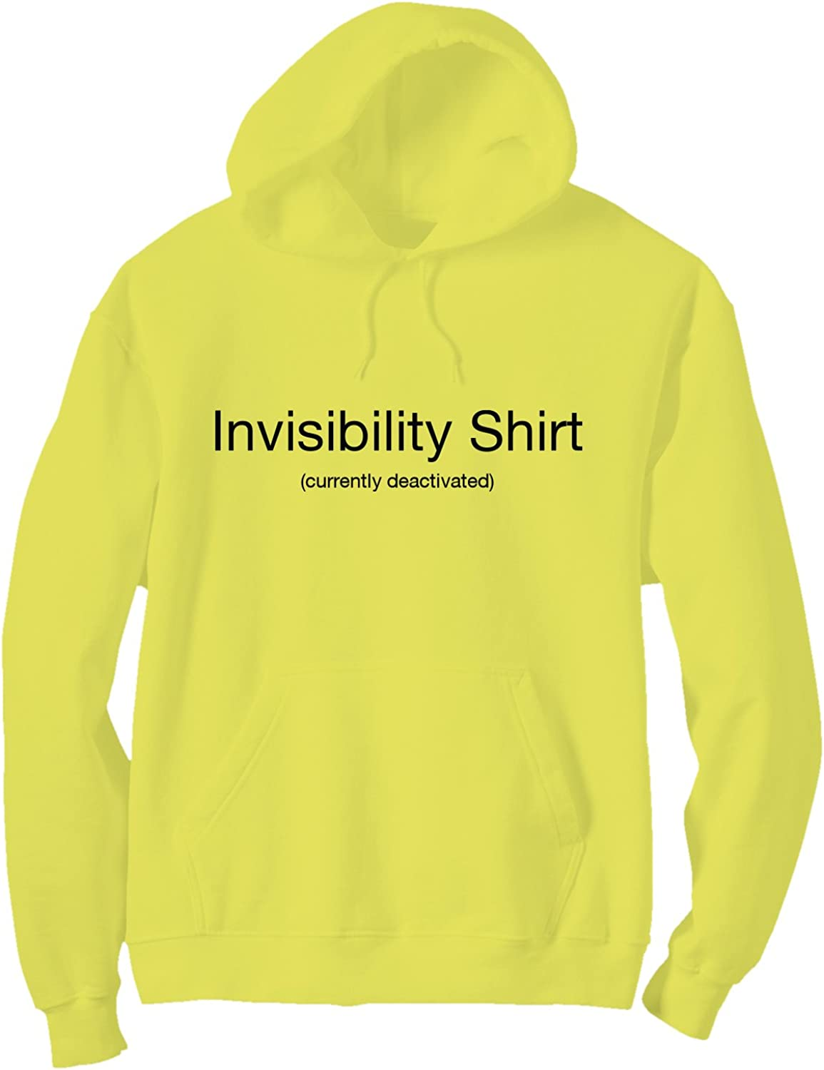 X-Large Invisibility Shirt Bright Neon Yellow Adult Pullover Hoodie