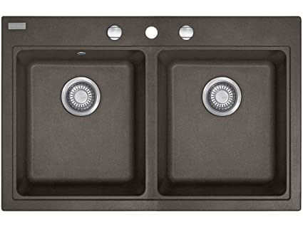 Franke Maris MRG 620 Umbra FRAGRANITE cucina lavandino doppio bacino ...