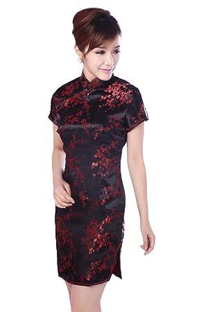 Jtc Women Cheongsam Short Sleeve Slim Chinese Dress Plus Size Slit
