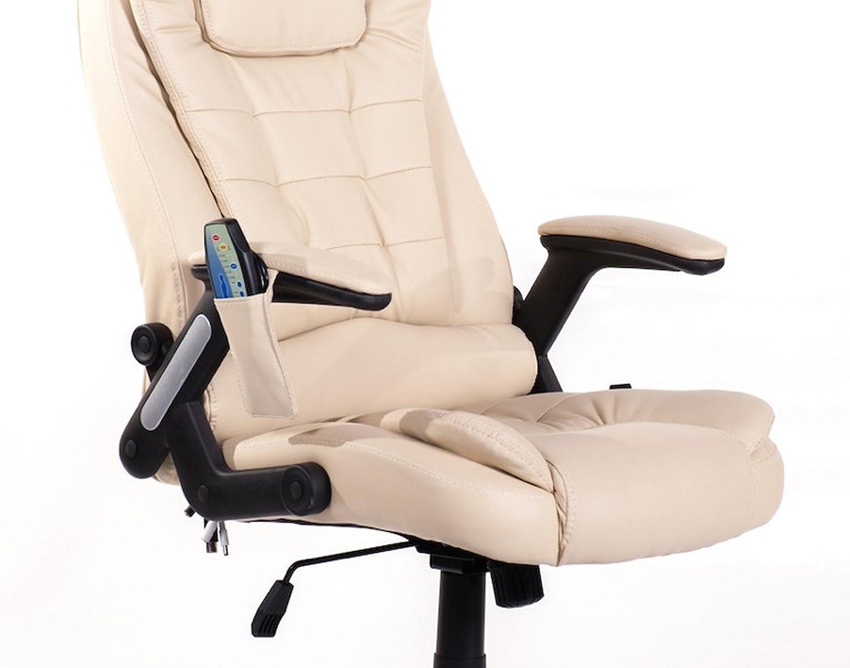 Poltrona Ufficio Elegante : Poltrona sedia presidenziale da ufficio massaggiante color crema