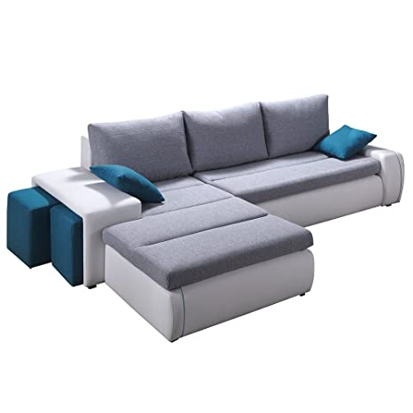 Cool Amazon Com Ritmo Sectional Sofa Bed With Two Ottomans Left Spiritservingveterans Wood Chair Design Ideas Spiritservingveteransorg