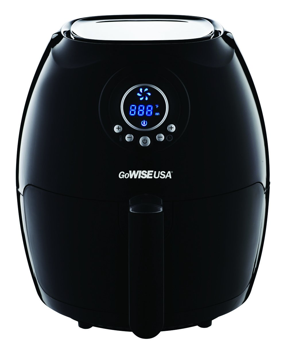 GoWISE USA Air Fryer with 6-Piece Accessory Set 50 Recipes for Your Air Fryer Book 2.75-QT, Black
