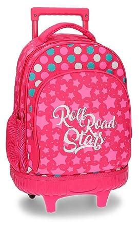 Roll Road Stars Mochila Escolar, 43 cm, 28.9 litros, Rosa: Amazon.es: Equipaje