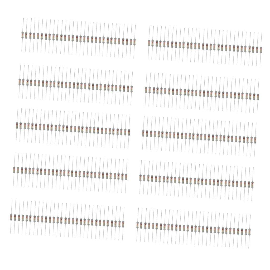 300 x 2W 30 Values Assorted Carbon Film Resistors Assortment Kit 1K~2MΩ