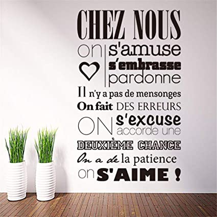 yiyiyaya Vinilo Francés Home Rule Art Home Decor Etiqueta de ...