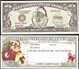 Santa Wish List Christmas Novelty Million Dollar Bill Lot of 2 Bills