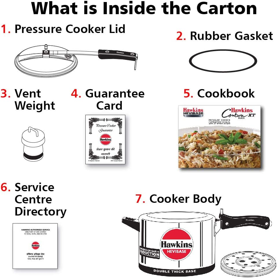 HAWKINS H56 Hevibase pressure cooker for induction cooktop