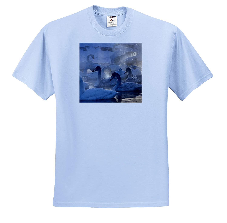 Whooper Swans Hokkaido Island - Adult T-Shirt XL ts/_312754 Japan Swans 3dRose Danita Delimont