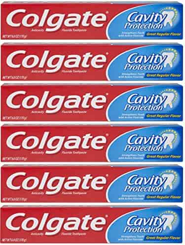 Colgate Cavity Protection Toothpaste with Fluoride - 6 ounce (6 Pack)