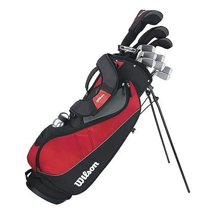 Wilson, Set completo para principiantes, 10 palos de golf con bolsa y carro,