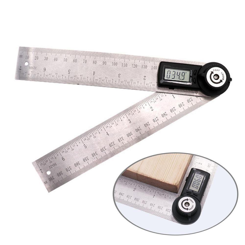 KOBWA Digital Angle Ruler with LCD Display Angle Finder Protractor Gauge Ruler 200mm Measure Tools