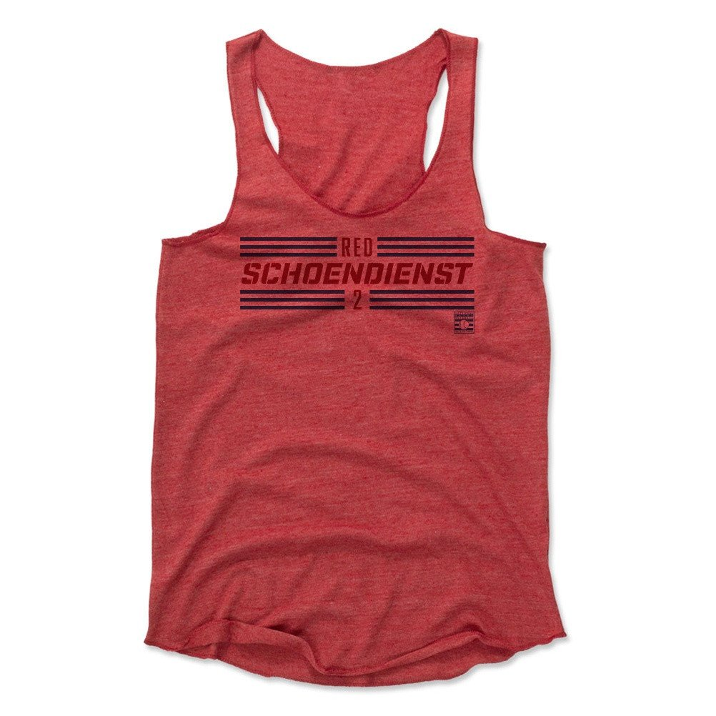 Red Schoendienst Striped Font R Baseball Hall of Fame Women's Tank Top