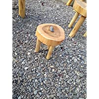Childrens Stool / Mini Table Naturally Unique Cypress Tree Trunk Handmade Coffee Table - Log Rustic Chilean - Free Shipping Included