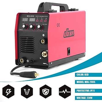 Dispositivo de soldadura 4 en 1 MIG MAG 195 A Inverter Gas de protección MMA, 230.00V: Amazon.es: Bricolaje y herramientas