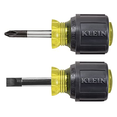 Klein Tools 85071 Stubby Slotted and Phillips Screwdriver Set with 5/16-Inch Cabinet-Tips and #2 Phillips-Tip, 2-Piece: Home Improvement