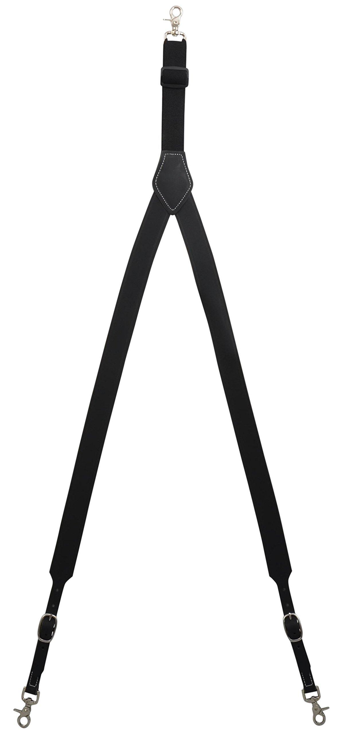 3D Tan Leather Suspenders