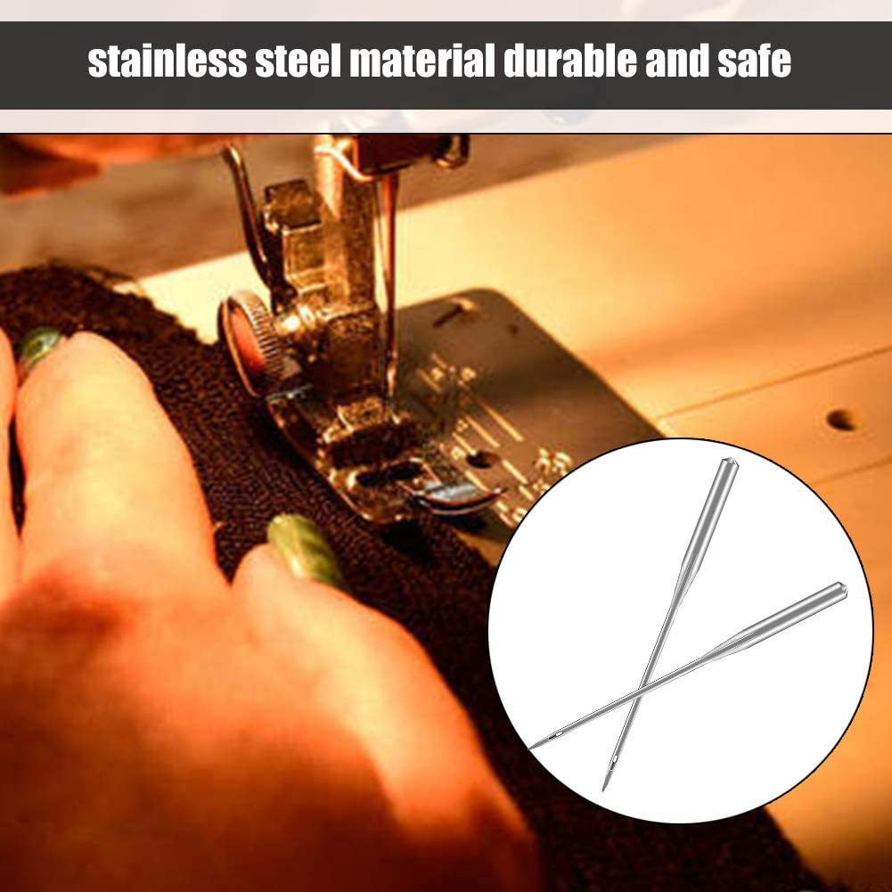 Universal Machine Needles with Instruction 20 Pcs Sewing Machine Needles Sharp Sewing Machine Needles for Brother Janome Singer Sewing Machine