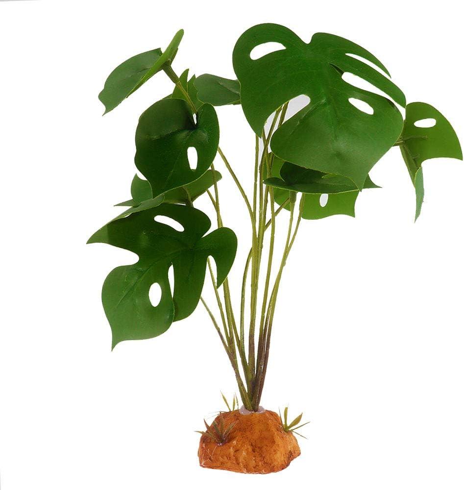 YOGURTCK Reptile Artificial Plants, Amphibian Habitat Hideout, Terrarium Decorations