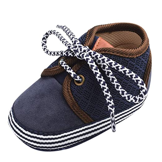 abefb44c2ae1 WARMSHOP Baby Patchwork Soft Sole Sneaker for Girls Boy Lace-up Breathable  Mesh Light Weight