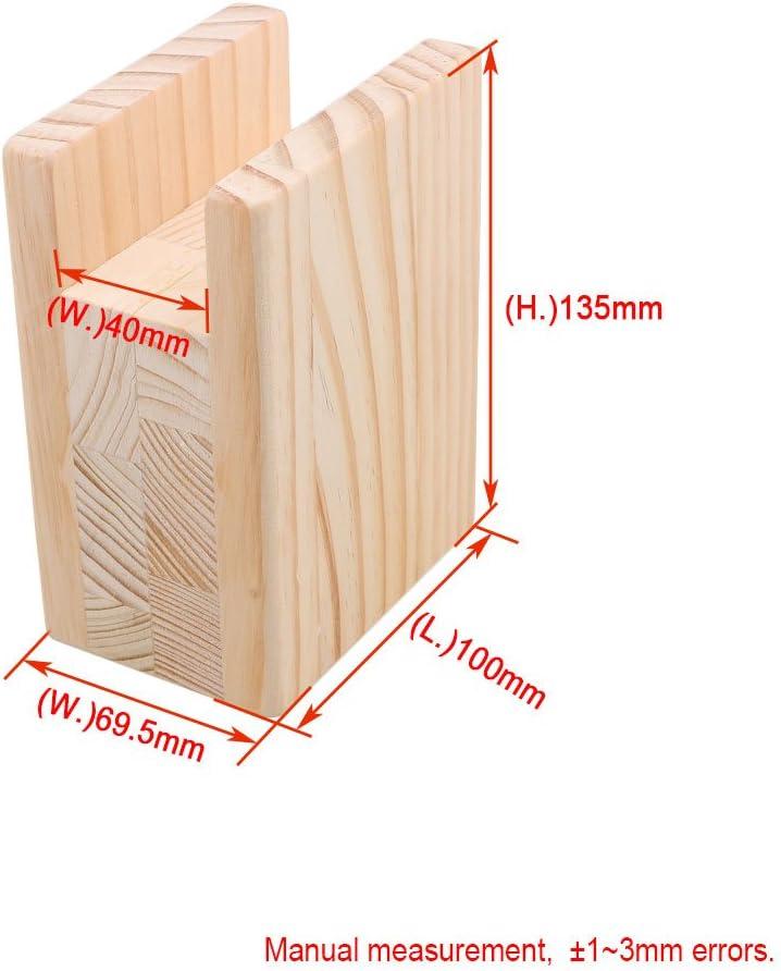 BQLZR Rehausseurs de lit de meubles pour des pieds de cannelure de 1,2/cm de bureau /él/évateur de dispositif de stockage M4170911020 de table en bois
