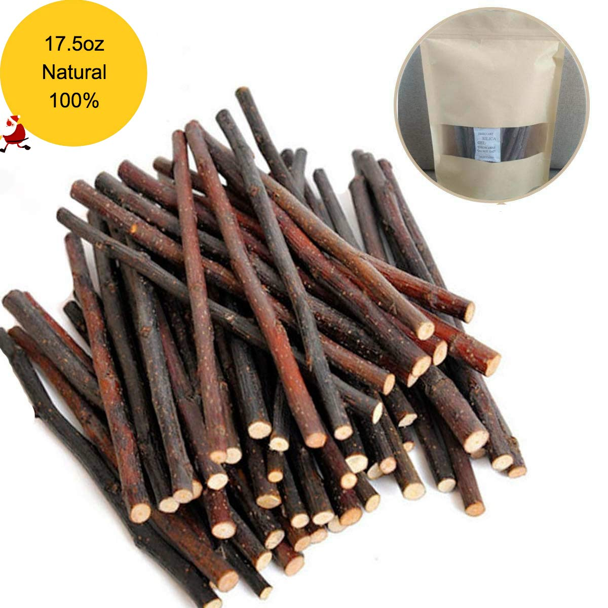 250g and 500g Natural Apple Sticks Small Animals Molar Wood Treats Toys Chinchilla Guinea Pig Hamster Rabbit Gerbil Parrot Bunny and Small Animals Chew Stick Toys Treats 61FXLiK7a1L