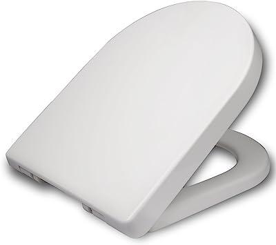 Oferta amazon: WOLTU Tapa de WC Tapa de Inodoro Asiento de Inodoro Bisagra de Cierre Suave Instalar Rápida/Demontar Rápida, Plastico Antibacteriano Blanco WS2543           [Clase de eficiencia energética A]