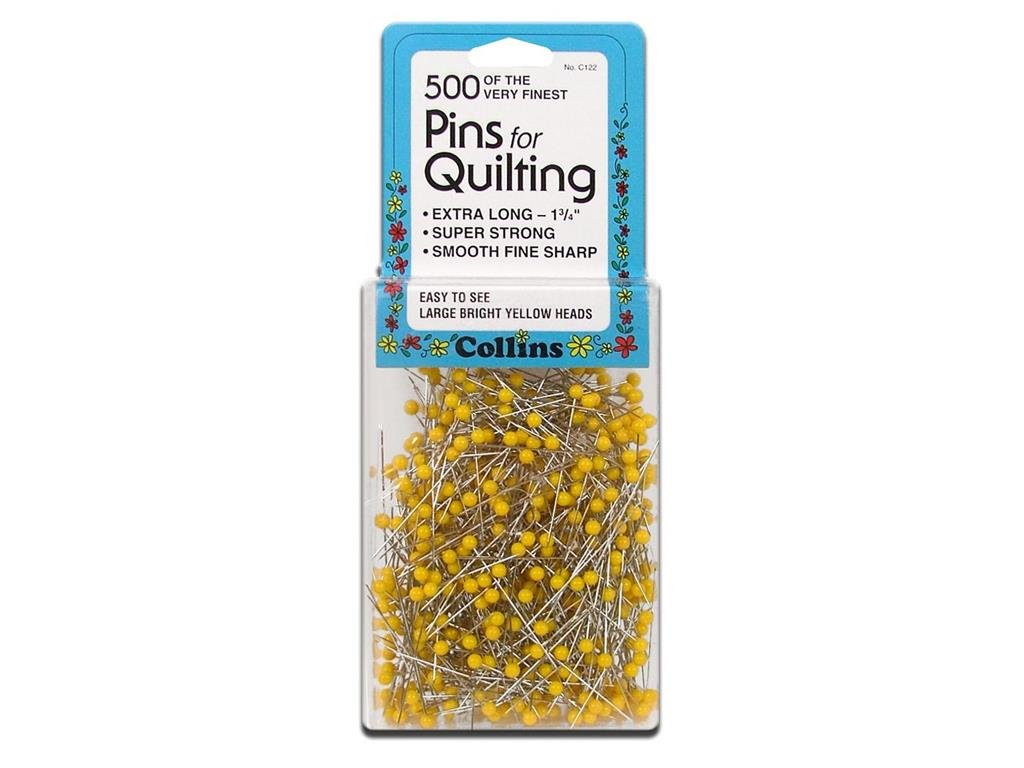 Collins Quilting Pins 1.75 Yellow Head 500pc CollinsQuiltingPins13/4 500ct Prym Consumer USA Inc COL122