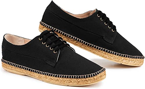 VISCATA - Lienzo para hombre hecho a mano en España, con cordones, originales alpargatas: Amazon.es: Zapatos y complementos