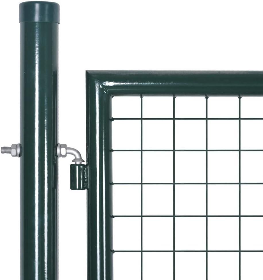 306 x 225 cm Tidyard Portail de Cl/ôture en Grillage Galvanis/ée Solide et Durable 289 x 175 cm