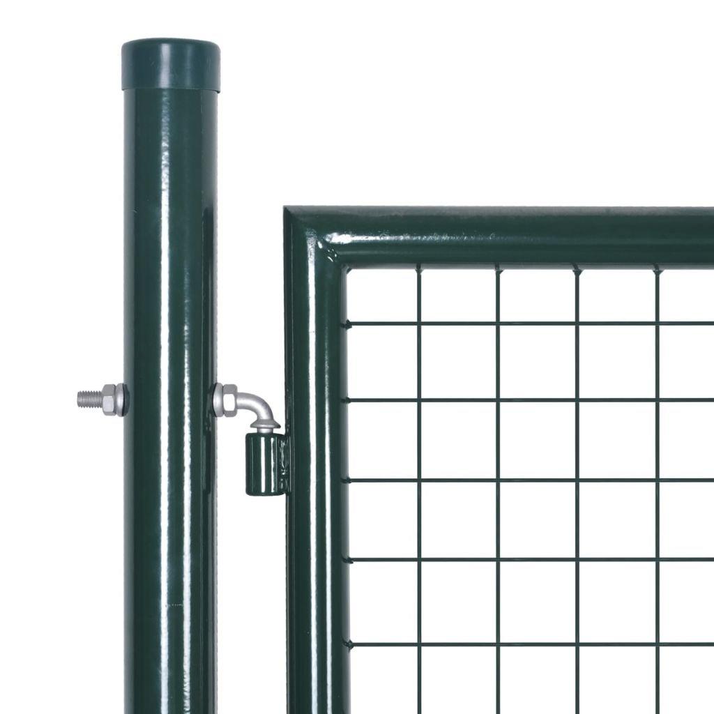 Gartent/ür Zaunt/ür Hoftor Gartenpforte Gartenzaun T/ür aus verzinktem Stahl Gr/ün 100 x 200 cm mit 3 Schl/üssel Nishore Metall Moderne Gartentor