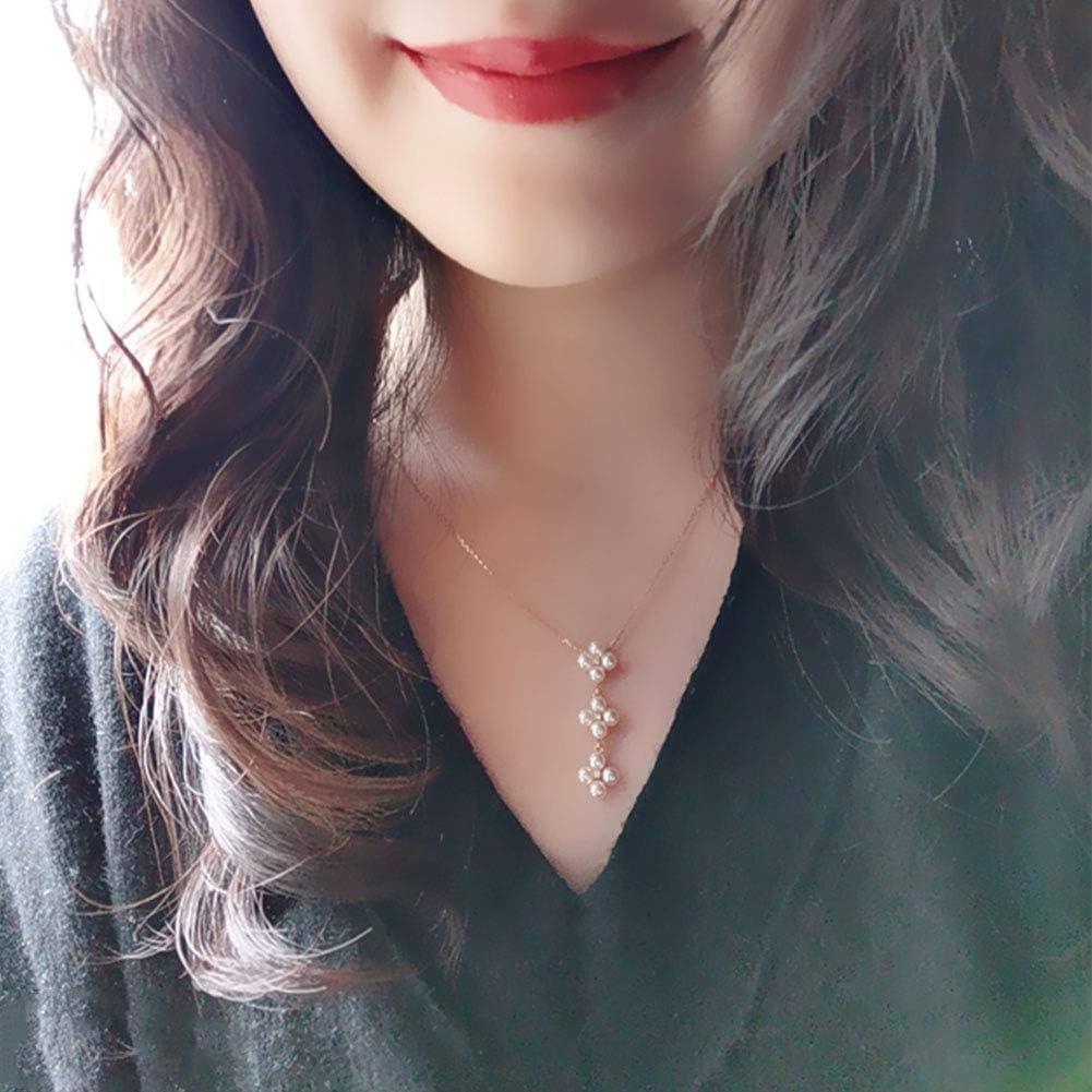 Oro De 18 Quilates Perla Colgante Joyería Agua De Mar Cultivada Akoya Perla Colgante con Collar De Cadena