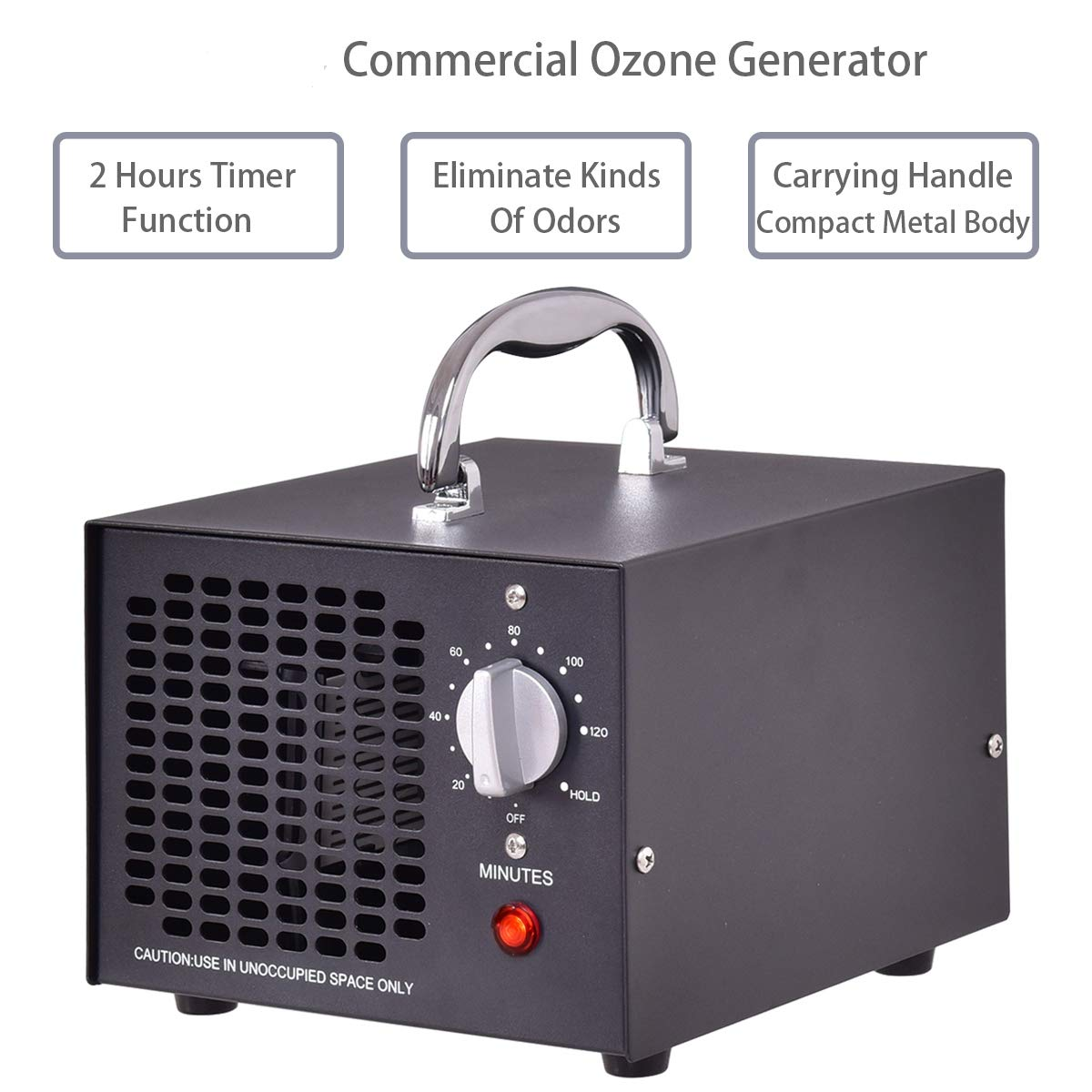 BestComfort Commercial Ozone Generator 5,000mg Industrial Air Purifier