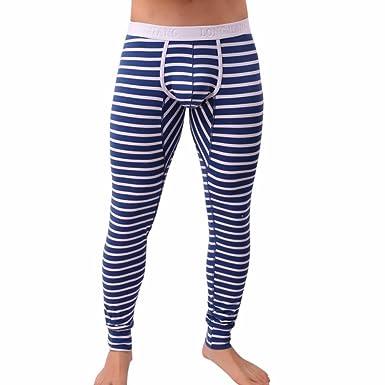 QinMM Longue Pantalons Thermique Sexy Rayé Respirer Hommes e11aa7c8017