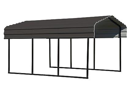Arrow 10 x 15 x 7-Foot Heavy Duty Galvanized Steel Metal Multi-Use Shelter,  Shade, Carport, 10' x 15' x 7'