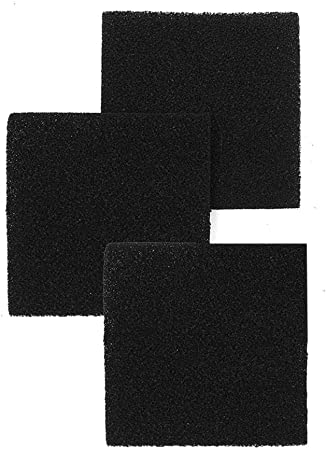 Cracklight - Filtro de carbón activo para cocina (algodón, fieltro, papel resistente al aceite), 128 * 128 * 9mm * 3 个: Amazon.es: Hogar