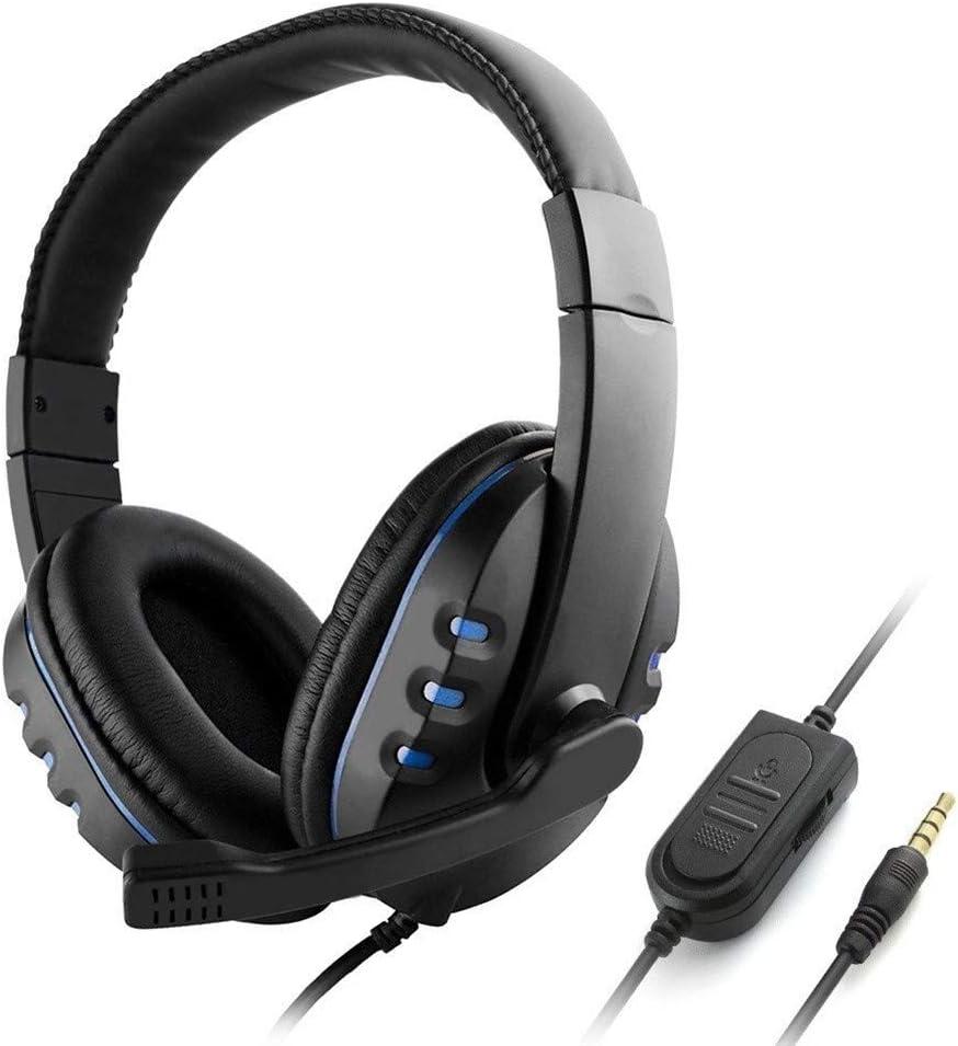 tel/éfono inteligente Auriculares con cable de 3,5 mm para juegos con micr/ófono y control de volumen para PC port/átil