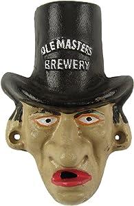 Treasure Gurus Cast Iron Warlock Face Wall Mount Beer Cap Soda/Pop Top Bottle Opener Pub Decor