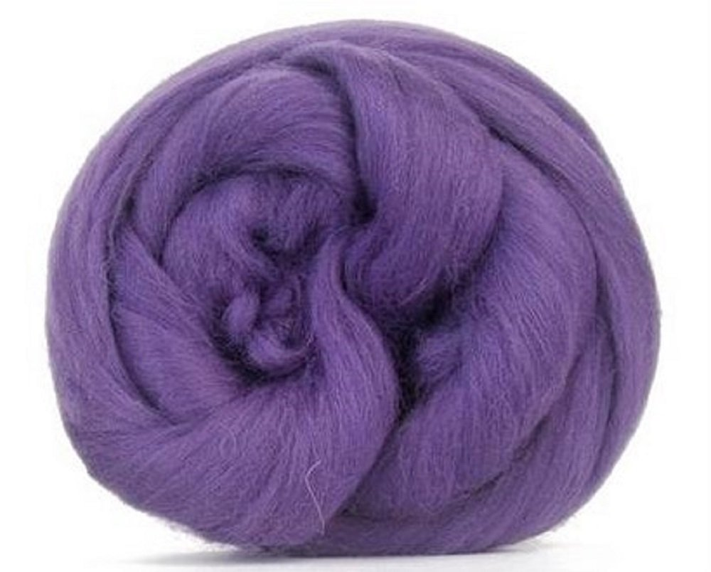 4 oz Paradise Fibers 64 Count Dyed Heather (Purple) Merino Top Spinning Fiber Luxuriously Soft Wool Top Roving for Spinning with Spindle Or Wheel, Felting, Blending and Weaving