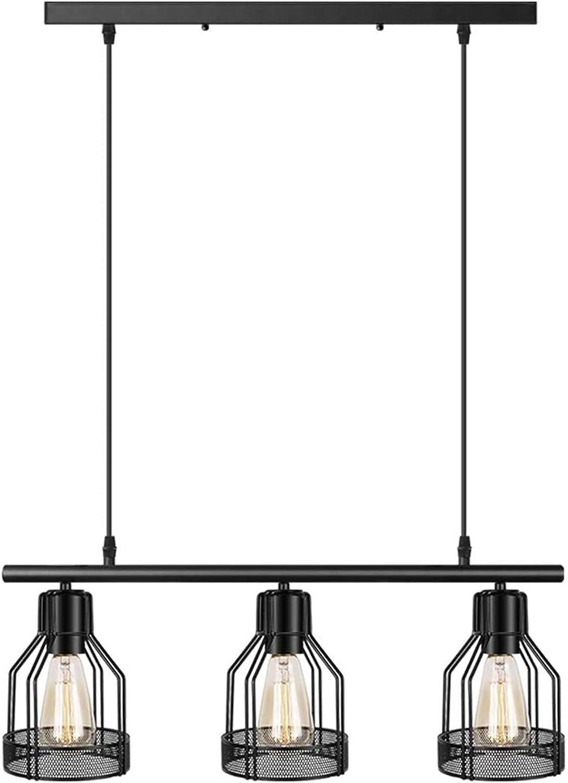 Black Pendant Lighting 3 Light Kitchen Island Light Fixtures Rustic Cage Industrial Chandelier For Bar Dinning Room Amazon Com
