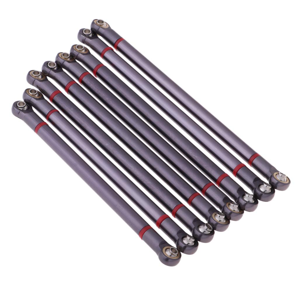 B Blesiya 8pcs Metal Link Rods DIY Accessories for Axial SCX10 90059//90046//90047//90060